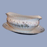 Midcentury Style House China PICARDY Gravy w/ Underplate