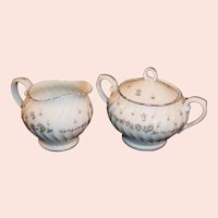 Midcentury Style House China PICARDY Creamer Sugar Set