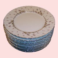 "(SETS of 4) Style House China PICARDY 10 1/2"" Dinner Plates (3 sets of Four Plates avail)"