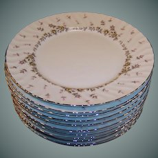 """(SETS of 4) Style House China PICARDY 10 1/2"""" Dinner Plates (3 sets of Four Plates avail)"""