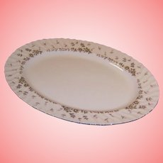"""Midcentury Style House China PICARDY  14 5/8"""" Serving Platter"""