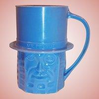 Planters Nuts Vintage Blue Mr. Peanut Mug