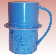 Planters Nuts Vintage Blue Mr. Peanut Mug