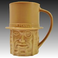 Planters Nuts Vintage Tan Mr. Peanut Mug