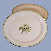 """SET of 4: Lily of the Valley 6"""" Dessert (Bread Butter) Plates"""