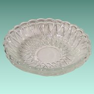 "(2) Clear Indiana Glass Pretzel 7 1/2"" Soup Serving Bowls"