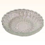 "(2) Clear Indiana Glass Pretzel 7 1/2"" Soup Serving Bowls"