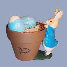 Peter Rabbit Teleflora Flower Pot / Planter Easter, Spring 2000
