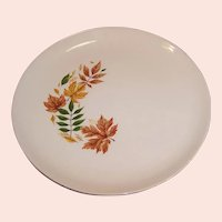 "TWO Vintage Salem China  ""Autumn Leaves"" Dinner Plates"