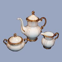 1960's Seyei Fine China Japan # 1030 Gilded Tea / Coffee Set