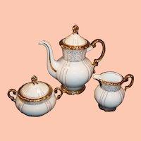 1960's Seyei Fine China Japan # 1030 Gilded Tea / Coffee Set
