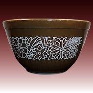 No. # 401 Vintage PYREX Woodland Dark Brown 1 1/2 pt Mixing Bowl