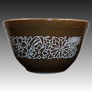 No. # 401 Vintage PYREX Woodland Dark Brown 1 1/2 pt Mixing Bowl