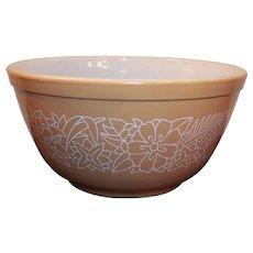 No. 402 Vintage PYREX Woodland Brown Tan 1 1/2 qt Mixing Bowl