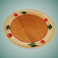 Vintage Wood Robinhood Ware Cherry Plate