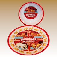 Ringling Bros. and Barnum & Bailey Circus Collectible Barnum's Animals Plate and Bowl