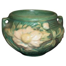 Excellent!  Roseville Pottery Peony Earthy Green Jardiniere 661-3