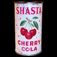 Vintage 1964 Flat Top Cherry Shasta Cola Can
