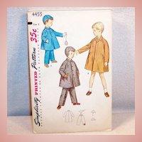 Uncut Size 2 Boy's Coat, Hat, Legging's: 1950's Simplicity Pattern