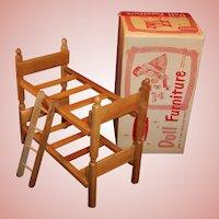 "1950's Strombecker Bunk / Twin Beds  & Ladder for 8"" Dolls; Original Box"