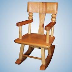"1950's Strombecker Wooden Rocking Chair for 8"" Dolls"