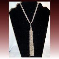 Vintage Tassel Dangle Necklace