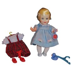 1965 Topper Suzy Cute Doll; 2 Outfts & Toys