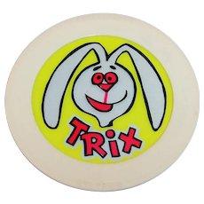 Working Trix  Cereal 1960's Advertising Premium--Trix Rabbit Night Light.