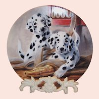 """""""We've Been Spotted"""" by Lynn Kaatz Collector's Dalmatian Plate"""