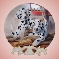 """We've Been Spotted"" by Lynn Kaatz Collector's Dalmatian Plate"
