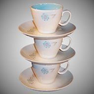 THREE Taylor Smith Taylor Boutonniere Cups & Saucers