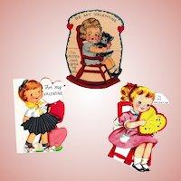 Vintage Valentines -- Sweet Girls