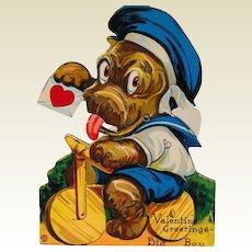 "Vintage 1920's Mechanical  Louis Katz ""Big Boy"" Bull Dog Valentine"