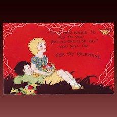 Whitney Made Valentine Postcard