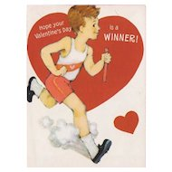 Unused Vintage Runner Valentine