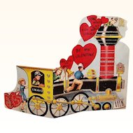 Vintage Large Train Engine Valentine