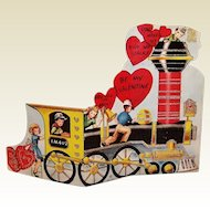 Vintage Large Train Engine Valentine