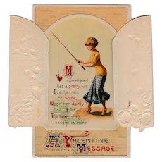 Vintage 1911  John Winsch Mechanical Valentine Postcard Germany