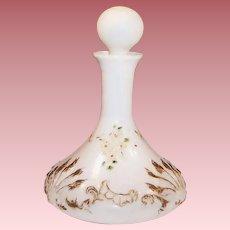 Victorian Milk Glass Vanity Bottle