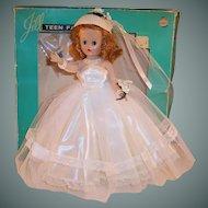 Excellent & Gorgeous!  1957 VOGUE Jill Bride Doll with Original Box
