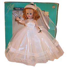 Excellent & Gorgeous!  1957 VOGUE Jill Bride Doll with Original Box