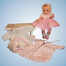 Beautiful! Vogue Ginnette Baby Doll; Dress, Coat, Bonnets, Sleeper, Tender and more!