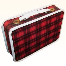 Vintage Red Plaid Toy Doll Case