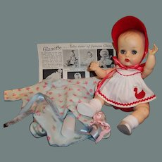 Lovely! 1950's Vogue Ginnette Baby Doll:  Working Squeaker: Romper, Pajamas, Shoes and more...