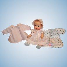 LAYAWAY: Vogue Ginnette Painted Eye Doll; Dress, Coat, Bonnet, Flannelette Sleeper & More....