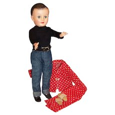 Vogue Jeff Doll; Jeans & Shirt Outfit, Shoes, Belt, Pajamas and Slippers