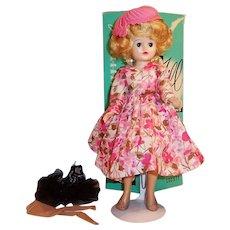 Vintage 1950's Vogue Jill Fashion Doll w/ Box, Dress Hat, Shoes, Hose and Tutu