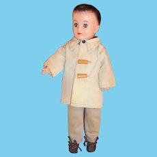 Vogue 1950's Jeff Doll: Car Coat, Tan Chino's, Striped Shirt, Belt & Shoes