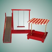 "8"" Doll ( like Vogue Ginny) Play Ground; Gym Set: Play Yard; Swing, Sand Box, Slide"