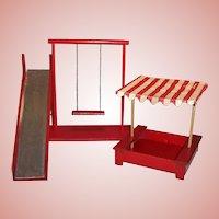"8"" Doll ( like Vogue Ginny) Play Ground; Gym Set: Play Yard; Swing, Sand Box, Slide"